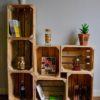 Aménagement de grandes caisses en bois de palettes revalorisées boby&co'