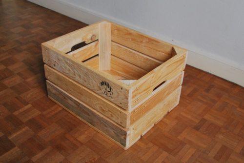 grande caisse en bois de palettes revalorisées boby&co'